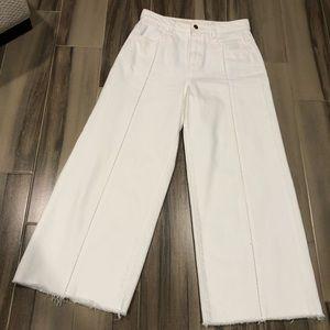 Anthropologie Brand Pilcro Wide Leg White Jeans